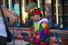 Happy in his work? (Mike Franks) Tags: paris france tourism balloons fairground clown amusementpark tuileries jardindestuileries 70200mm