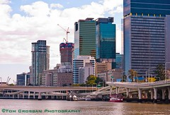 Brisbane on the Brisbane River, Queensland, Australia 2012 (PROSECMAN) Tags: buildings river australia brisbane queensland brisbaneriver brisbaneskyline theriversideexpressway tomcrossanphotography theriversideexpresswaybrisbane m3pacificmotorway