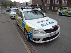 VX11BHF (Emergency_Vehicles) Tags: newcastle estate under police irv staffordshire lyme skoda octavia bhf vx11 vx11bhf