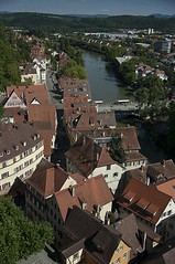 "View of Tbingen from the ""Stiftskirche"" - 1/4 (KF-Photo) Tags: neckar tbingen stiftskirche neckarbrcke gartenstrase"