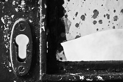 Holes and Rust (Franca Alejandra) Tags: blackandwhite bw blancoynegro nature photography mood top details bn rainy f survival biancoenero touching noireetblanc francafranchi