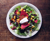Nectarine & Black Bean Crunch Salad (you can count on me) Tags: salad lettuce vegetarian chip blackbean salsa nectarine tortilla crunch poppytalk