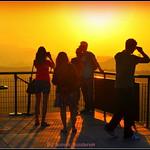 Sun Watchers Watching  Sun In..It's .Golden Hour...!. thumbnail