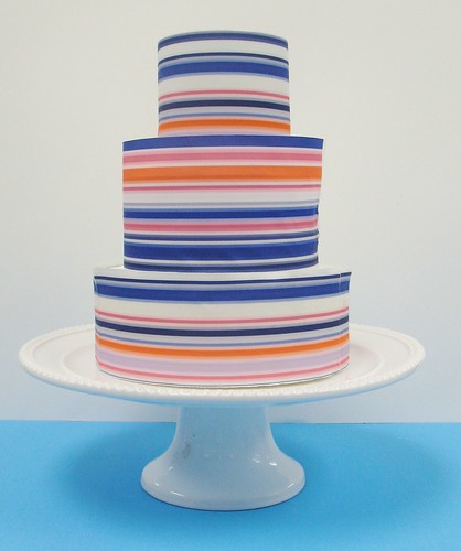 [Image from Flickr]:Blue Ribbon Bridal Cake