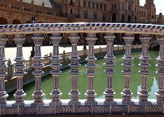 Hiszpania - Sevilla (tomek034 (Thank you for the 1 100 000 visits)) Tags: hiszpania spain espana sevilla plachiszpaski plac plazadeespaa balustrada detal
