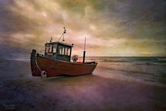 """Seeteufel"" (Gnter Nietert) Tags: seeteufel balticsea ahlbeck sunset boat pier digitalphotoart germany fineart fotogruppestadtsteinach costalresort gnternietert monkfish"