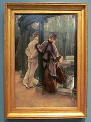 Quarreling (pefkosmad) Tags: ashmoleanmuseum museum art painting oxford oxfordshire oxon tissot quarreling quarrel row couple man woman garden