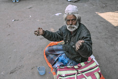 INDIA7911/ Mohammed (Glenn Losack, M.D.) Tags: india leprosy lepers deformed sick ill handicapped photojournalism streetphotographer