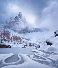 God's-foot (Aurlien BERNARD) Tags: lake sorapis dolomites frozen ice mountain canon 5d mood moody