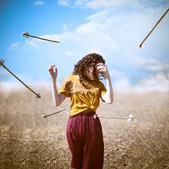 A Battle inside (Sirliss) Tags: sirliss woman arrow flche battle bataille inside