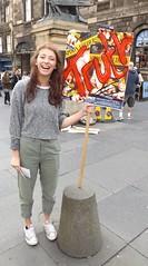 Spoon Feeders (Clydesider2014) Tags: spoon feeders edinburgh fringe 2016 girl royal mile placard