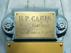 H.P. CARIS (frankrolf) Tags: brasssign castillonlabataille engraving