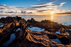 Merkland Sunrise (Tim Allott) Tags: hdr landscapephotography morning sea sky sunrise permian newredsandstone rocks seaweed rockpools coast seascape merklandpoint isleofarran 2016 pentaxk3 scotland shoreline firthofclyde weathering landsapephotography rock arran foreshore