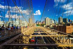Brooklyn Bridge (Arutemu) Tags: a7r america brooklynbridge ilce ilcea7r manhattan ny nyc newyork sigma sigmasuperwideii24mmf28 sony us usa unitedstates city fullframe manualfocus mirrorless summer urban wideangle downtown brooklyn newyorkcity nuevayork lowermanhattan downtownmanhattan scene scenic panorama
