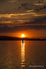 Chiemsee (Rolandito.) Tags: chiemsee sailing boat silhouette segelboot sunset bayern bavaria bavire baviera germany upper oberbayern deutschland allemagne duitsland alemania germania lake see wasser