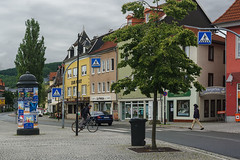 Tranquility in a small town II (Alexander Pugatschewski) Tags: ilmenau thuringia germany city street cityscape houses signs cyclist pedestrianpassage pavement province quiet tranquility travel urban