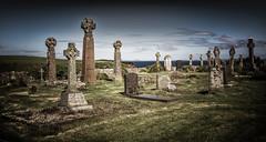 ST. BRIDES CHURCH GRAVEYARD , PEMBROKESHIRE (henrhyde (gill)) Tags: churchyard graveyard graves stones sea john masefield poem olwg