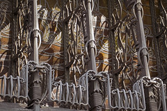 (Over)Decorated (Djaron van Beek) Tags: abstract patterns ironwork theamsterdamschool window partofbuilding readyin1916 architecture architectjohanmelchiorvandermeij jovandermey jmvandermeij founderoftheamsterdamschool influencedbyartnouveau builtfor6shippingcompanies scheepvaarthuiswasoriginalname homeofshippingwasoriginalname elaborate eclectic composition stainedglass globevisibleinstainedglass shadowsandlight decorations ornament lines curves toomuch excessive tastehasbeenchanged forms style amsterdamschool firstexampleoftheamsterdamschool amsterdam windings repetition idontseetheuseoftheseironworks since2007rebuildto5starhotelamrth art chaotic intersectinglines history richofdetails angle perspective oblique startofconstructionin1912 headache djaron djaronvanbeek
