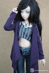 Long Butterfly Cardigan (Aubergine) (Tayma-Leigh) Tags: bjd fairyland minifee mnf inessencecreations inessence rheia
