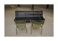 .. (lux fecit) Tags: paris jardinduluxembourg bench chairs