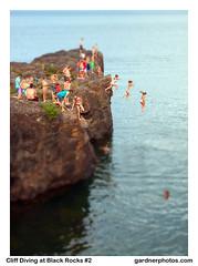 Cliff Diving at Black Rocks #2 (gardnerphotos.com) Tags: presqueisle marquette michigan blackrocks lakesuperior greatlakes gardnerphotoscom up upperpeninsula
