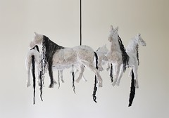 Horse Paper Mache Pendant Lamp (irecyclart) Tags: art decoration design homedcor horse lamp modern recycled sculpture