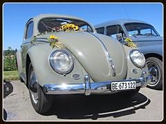 VW Beetle. 1955-57 (v8dub) Tags: vw beetle volkswagen fusca maggiolino kfer kever bug bubbla cox coccinelle suisse schweiz switzerland seedorf german pkw voiture car wagen worldcars auto automobile automotive aircooled old oldtimer oldcar klassik classic collector