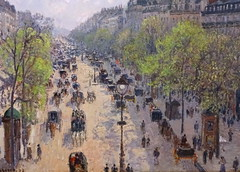 Boulevard Montmartre, Spring Morning (Snapshooter46) Tags: boulevardmontmartre springmorning camillepissarro frenchimpressionism oilpainting streetscene french courtauldgallery artgallery somersethouse london artwork