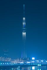 DSC05012 (Zengame) Tags: fe70200mm fe70200mmf4goss sony a6300 architecture cc cloud cloudy creativecommons illuminated illumination japan landmark miyabi night skytree tokyo tokyoskytree tower 6300             jp