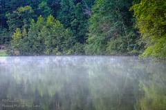 Morning Mist on Moss Lake (David Warlick) Tags: adobelightroom cherryvillenc clevelandcountync hdr mosslakenc photomatixpro photoshop shelbync fog mist morning water shelby northcarolina unitedstates us