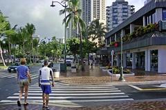 Kalakaua Avenue (AntyDiluvian) Tags: hawaii 2001 30thanniversary oahu honolulu waikiki waikikicirclehotel kalakauaavenue street walking strolling