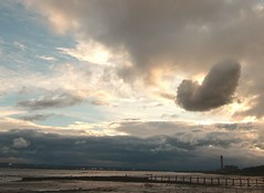 Love is in the air! Culross, Scotland (cocopie) Tags: culross clouds heartshaped sunset sea firth forth