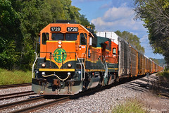 """Westbound Local in Birmingham, MO (""""Righteous"""" Grant G.) Tags: bnsf railway ns west westbound local freight train trains missouri kansas city power emd ge"""