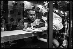 Hot coffee (GioMagPhotographer) Tags: eyecontact ricohgr drink paris 75006 window france counter