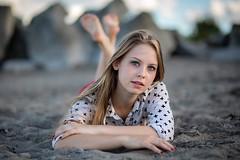 (rebekkaweigand) Tags: blondie stare expression look beautifull pretty woman girl colour greeneyes eyes portrait beach hamilton toronto model