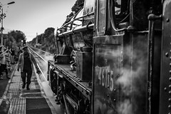 Scots Guardsman (rogueslr) Tags: canon 5d mkii photoshop cc 20155 nik silver efex 2 bingham station steam train scots guardsman 46115 uk platform