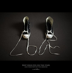 120 Quotes project | Quote 100 (Musaad (CJ)) Tags: life inspiration love feet foot shoes heart quote lace quotes converse shoelace