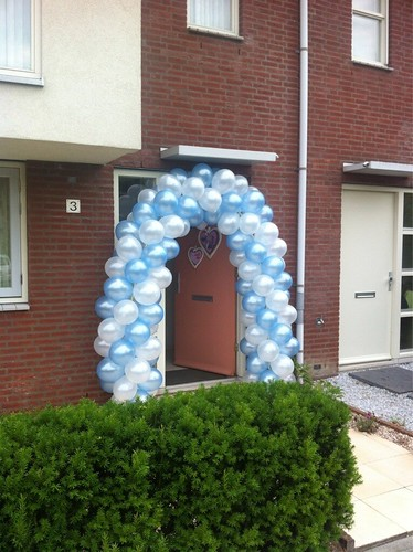 Ballonboog 5m Lichtblauw, Wit