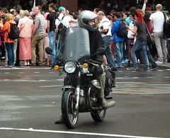 Moto Guzzi (kenjonbro) Tags: uk england black london westminster trafalgarsquare vtwin 1977 motoguzzi charingcross sw1 850 kenjonbro 844cc fujihs10 worldpride2012 tpu890r