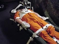 Restrained inmate (bondagehaj) Tags: mask bondage hood prisoner inmate humane restraint segufix