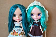 Nathaniel and her no name sister (now called Esmeralda Macaron)