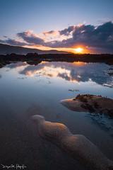En Detalle II (diegogm.es) Tags: luz atardecer asturias olympus arena nubes reflejo bajamar charco cantabrico surco e520