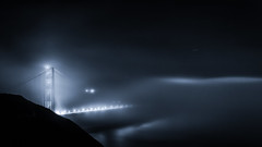 A Night in Foggy Land - Golden Gate Bridge (tobyharriman) Tags: pictures sf sanfrancisco city travel bridge light weather fog architecture night clouds canon stars landscape photography foggy scenic goldengatebridge bayarea 2012 mkiii tobyharriman