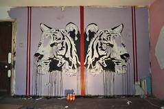 street uk urban london art wall studio graffiti poem head tiger william vandalism spraypaint drips blake brixton 2012 idiom