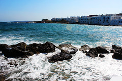 morning wave (Katrinitsa) Tags: sea summer water colors canon island mediterranean wind aegean efs1855mm wave greece splash paros breathtaking cyclades naoussa
