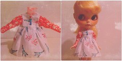 (Aya_27) Tags: pink blue white cute square ir bigeyes doll dress sweet handmade lace buttons sewing sew chips squareformat handpainted handsewn mywork blythe lovely custom 1977 nicky petite smock bighead ruffle dollie scalp inhand dressbyme iphoneography icerune nickylad instagramapp uploaded:by=instagram chaoskatenkosmoscustom creayations