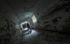 Solace (Subversive Photography) Tags: light woman abandoned dark peeling paint decay memories corridor conceptual asylum console derelict straightjacket hdr urbex fractured severalls danielbarter