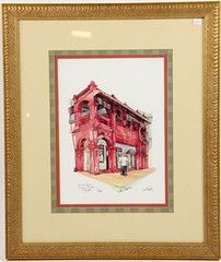 "45. ""The Red House / Katong Bakery / Singapore"" Colored Print"