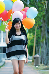Alicia (AT.Photography) Tags: life morning pink blue light shadow portrait favorite sun plant motion tree green art beach beautiful smile composition contrast pose garden walking print fun happy photography daylight photo amazing model eyes colorful asia pretty purple heart bright wind sweet bokeh modeling outdoor walk great balloon models chinese perspective young peoples malaysia jb roadside lovely staring 2012 belon dangabay 100l 60d