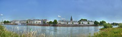 Panorama view (hdr). (Johan (Different on or off)...) Tags: city blue sky panorama white water netherlands river nikon raw view stitch hdr ijssel gelderland d7000 johan 1685mmnef